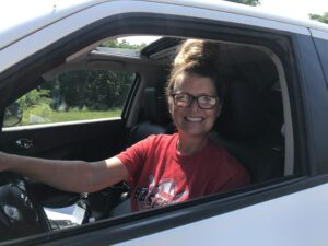 Sherri Vincent at Shannon County Vaccine clinic